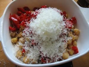 Chickpea salad - parmesan