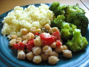 Chickpea salad - plated