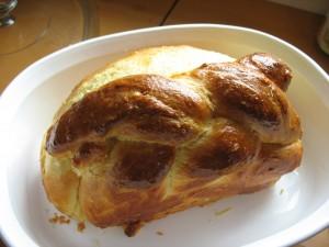 Baked brioche