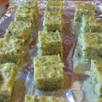 Prepped polenta squares