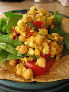 Crab Salad w/ Corn and Chickpeas